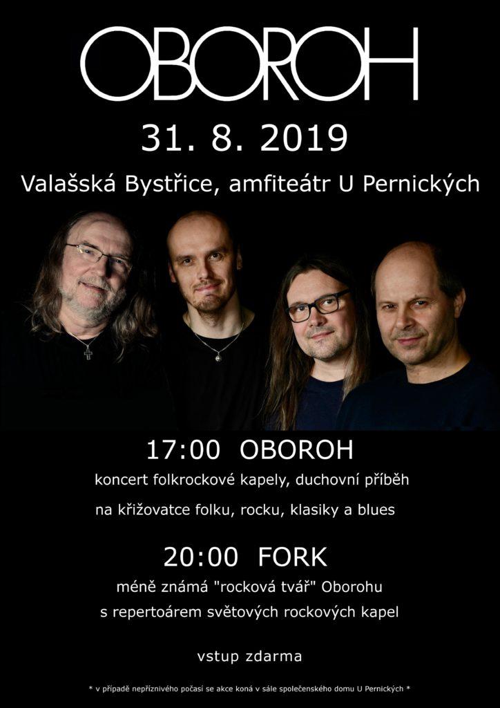 Oboroh koncert ve Valašské Bystřici 31.8.2019